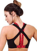 Flexmee Luxury Roses Sublimated Sport Racerback Bra | Microfiber
