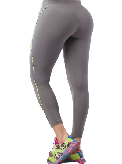 Vedette Sport Leggings w/ Yellow Trim