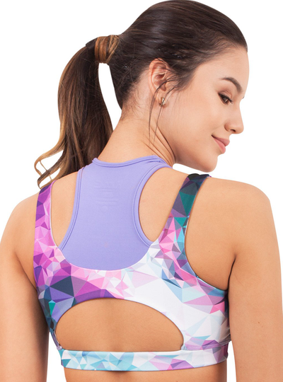 Flexmee Fractals Sublimated High Impact Sport Bra | Microfiber
