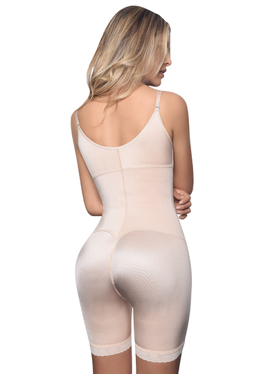 Vedette Mid Thigh Full Body w/ Front Zipper
