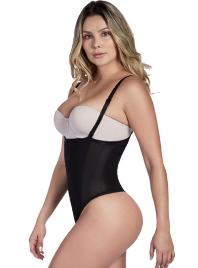 Shaperlove Convertible Strap Thermal Thong Bodysuit