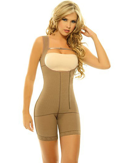 Siluet Postsurgical Slimming Braless Body Shaper with Thighs Slimmer
