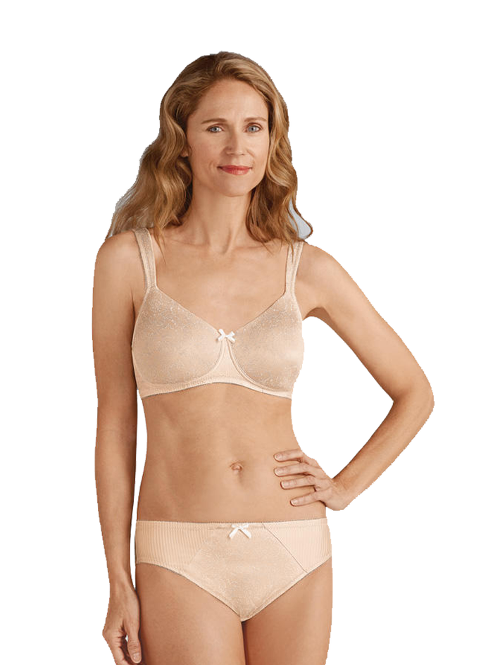 Amoena Gracy Padded Wire-Free Bra - Nude / Off-white