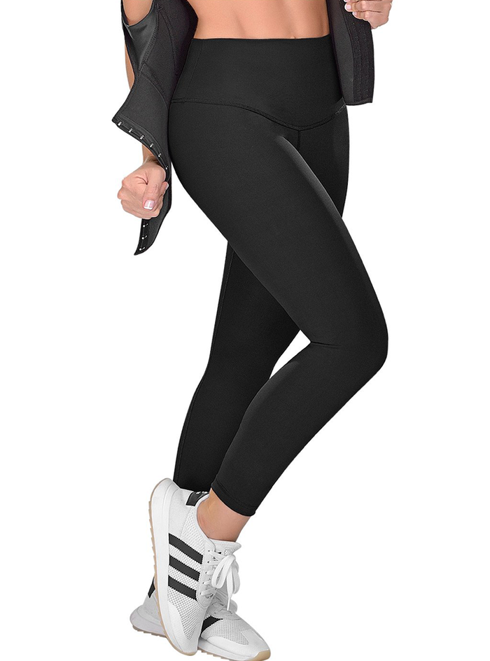 Fajas M & D High Waisted Activewear Tummy Control Leggings for Women | Daily Use