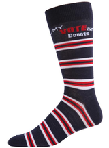 MeMoi My Vote Counts Crew Socks