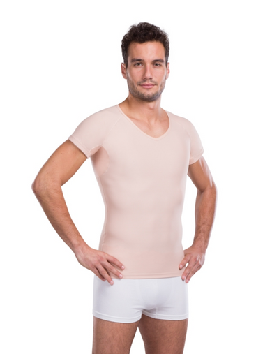 Lipoelastic Everyday Protection Shapewear t-shirt with cotton sweat protection armpit