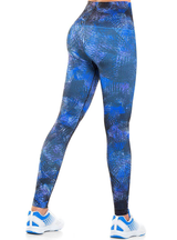Cysm Ultra Compression and Abdomen Control Fit Legging Tropical Blue