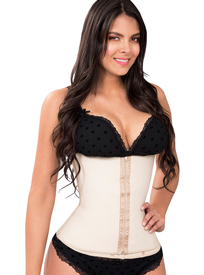 Fiorella Clip and Zip Latex Waist Cincher