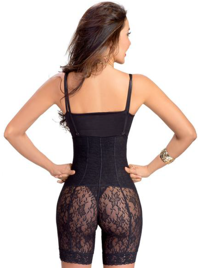 Lowla Girdle Type Short Powernet Compression Abdomen Control with Lace