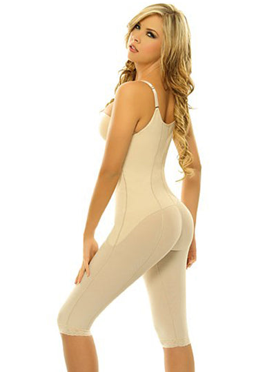 Siluet High Compression Braless Capri Length Body Shaper