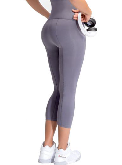 Lowla Fitness Sports Leggings Gray Polyester