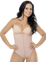 Equilibrium Firm Compression Strapless Girdle - Panty Style Bodysuit