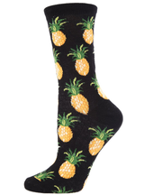 MeMoi Pineapple Fruit Bamboo Crew Novelty Socks