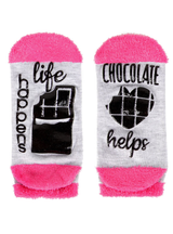 MeMoi Life Happens Chocolate Helps Low Cut Socks
