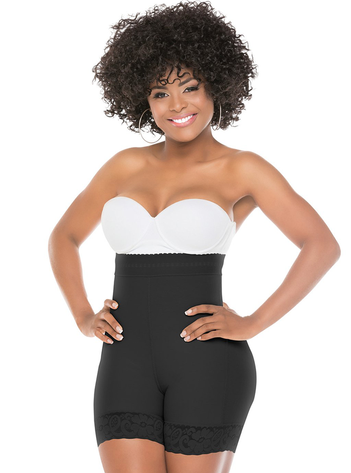 Fajas Salome High Waisted Compression Shaper Shorts for Women