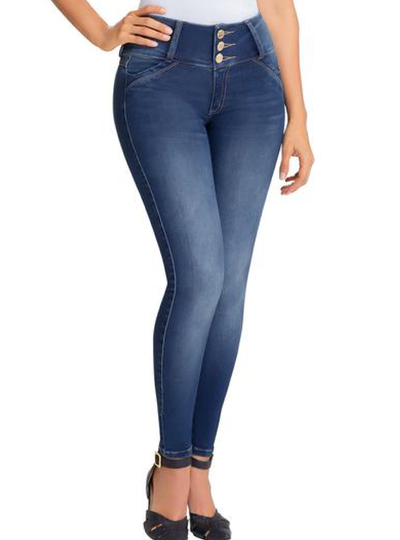 Lowla Denim Jeans with Spandex Internal Girdle Lift Tail