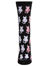 MeMoi Awareness Cats Bamboo Blend Crew Socks