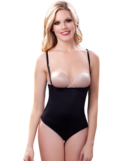Vedette Strapless Bodysuit in Thong