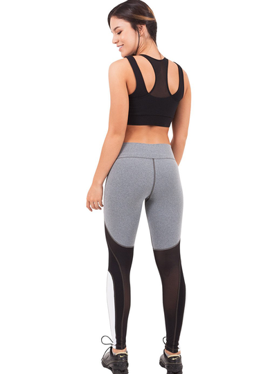 Flexmee Waves Mid Rise Sport Leggings | Supplex 360