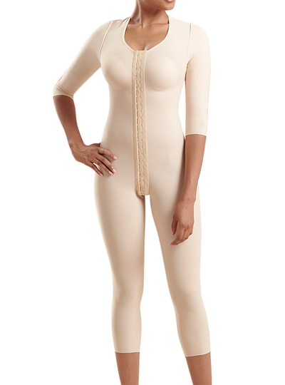 Marena Bodysuit With 3/4-length Sleeves - Calf Length