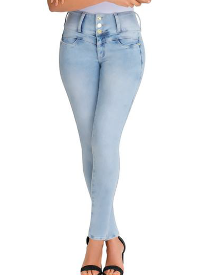 Lowla Denim Jeans Clear Tail Spandex Internal Girdle