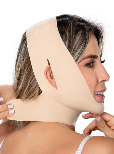 Fajas M & D Post Surgical Chin Compression Strap for Women