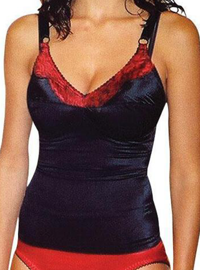 Rago Satin and Lace Stretch Camisole Soft Shaping