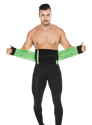 Curveez Neon Green Gym Belt Tecnomed 2