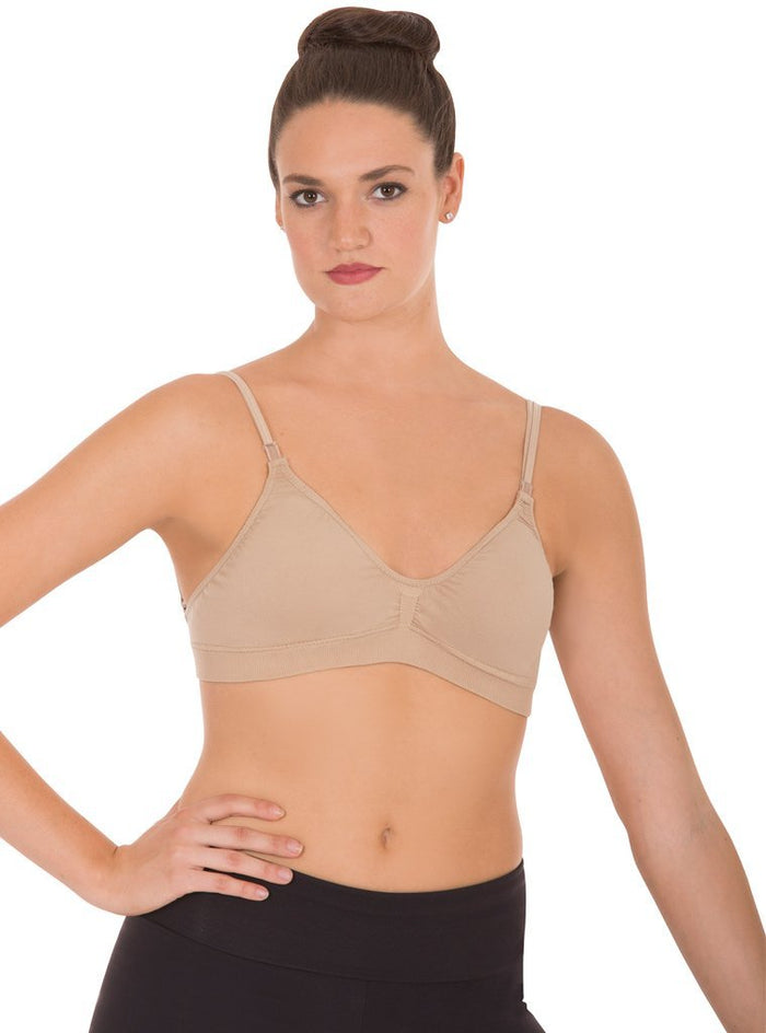 Euroskins Padded Seamless Double Clear Back Strap Bra