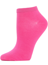 MeMoi Bamboo Blend Solid Knit Low Cut Socks