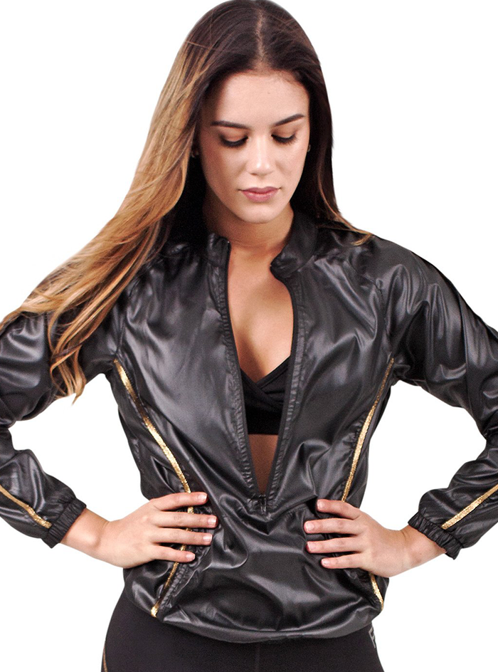 Flexmee Luxury Golden Windbreaker For Women | Polyester
