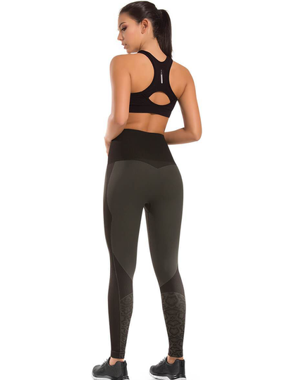 Cysm Ultra Compression And Abdomen Control Fit Legging Olive