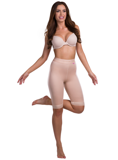 Lipoelastic TF Leggings - Compression Shorts -  Pull Up' Design With Elastic Waist Band