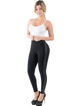 Fiorella Butt Lifter Leggings with Internal High Waist Faja