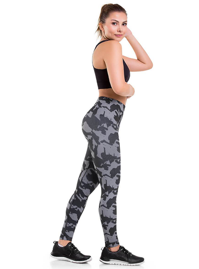 Cysm Ultra Compression and Abdomen Control Fit Legging Militar Gray