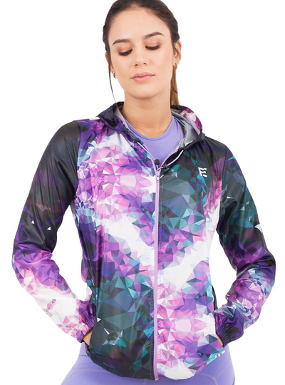 Flexmee Sublimated Fractals Winbreaker With Hood | Polyester
