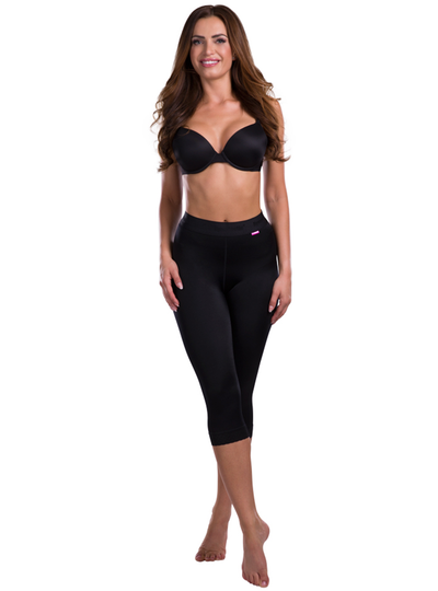 Lipoelastic TD Leggings - Compression Capri Shorts -  Pull Up' Design With Elastic Waist Band