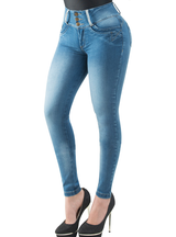 Fiorella Butt Lifter Skinny Women Jeans High Rise Waist