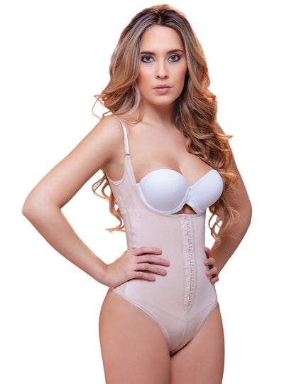 Vedette Open Bust Front Closure Shaper in Thong