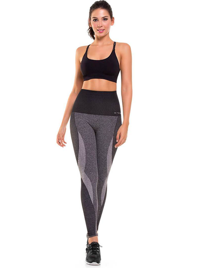 Cysm Ultra Compression and Abdomen Control Fit Legging Gray Jaspe