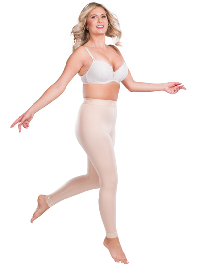 Lipoelastic Compression Pants - Pull Up Design With Elastic Waist Band