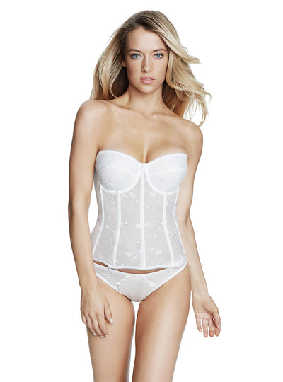 Dominique Embroidered Lace Torsolette