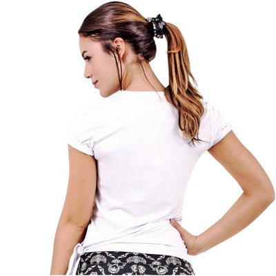 Flexmee Luxury Sport Active T-Shirt With Side Knot | Microfiber