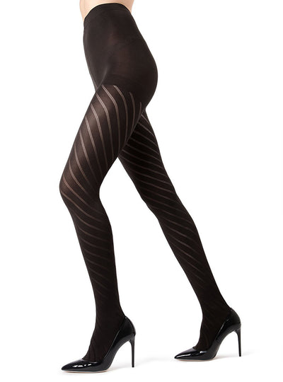 MeMoi Spiral Opaque Tights