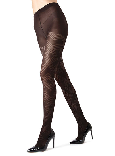 MeMoi Geometric Pattern Tights