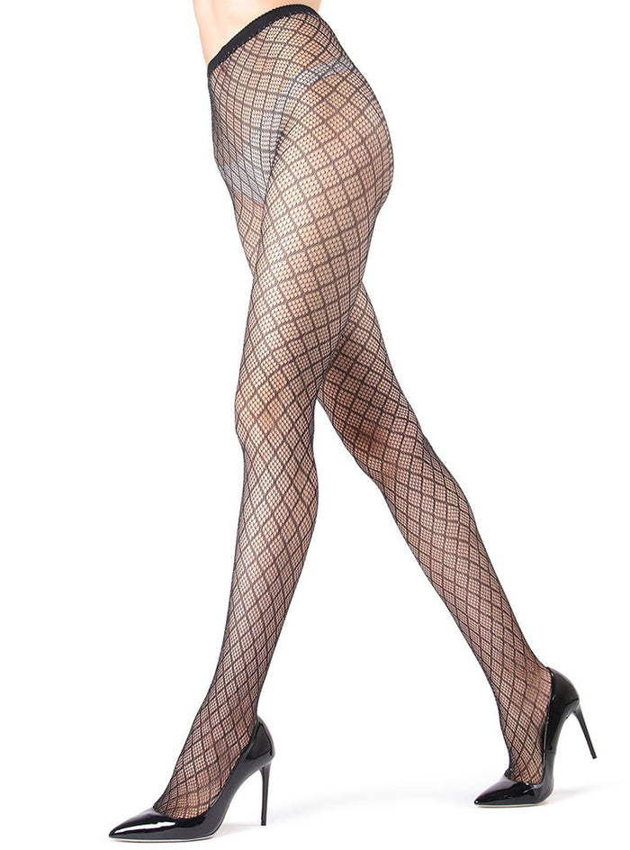 MeMoi Infinite Diamond Lurex Net Tights