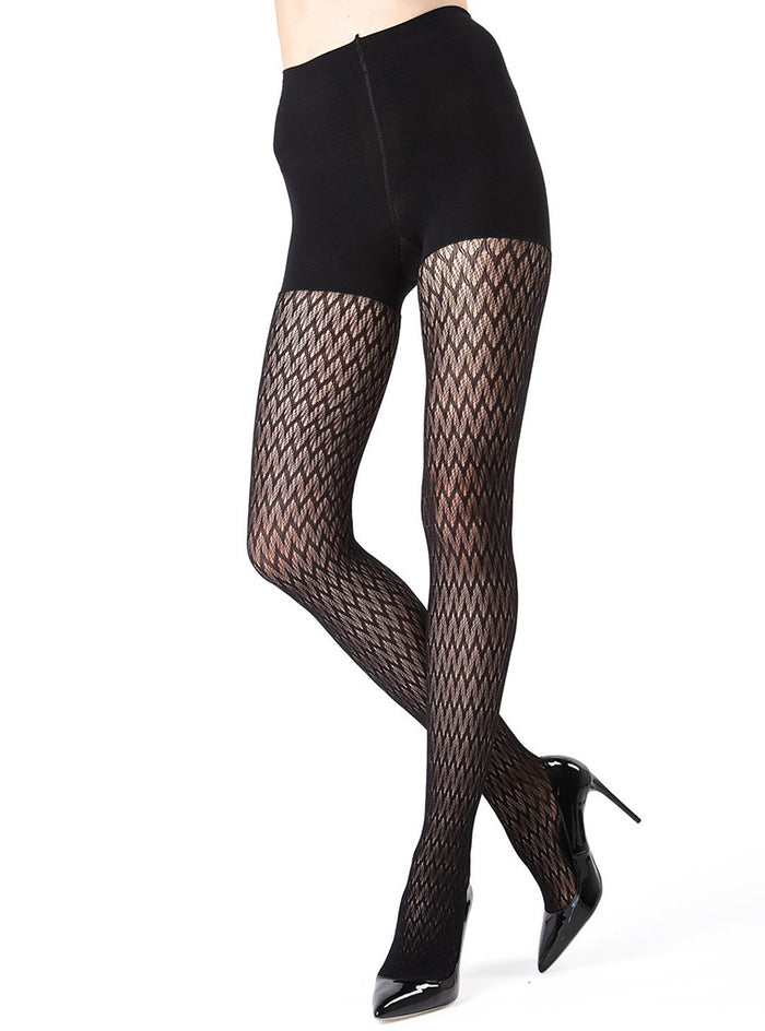 MeMoi Firmfit Chevron Net Tights