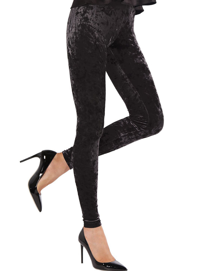MeMoi Crushed Velvet Leggings