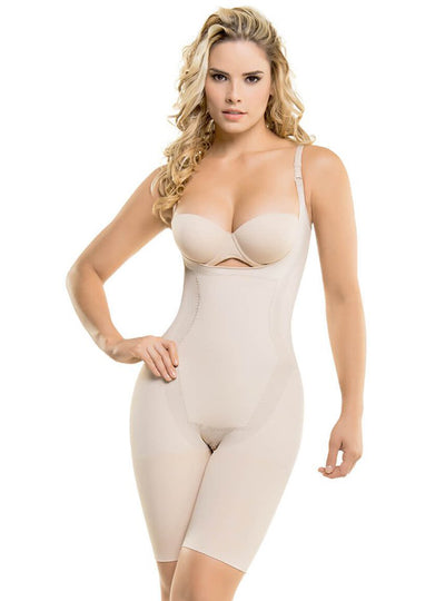 Cysm Seamless Mid-Thigh Ultra Butt-Lifting Thermal Bodysuit