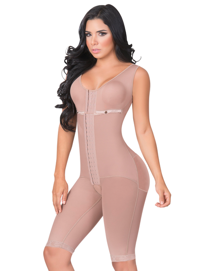 Jackie London Long Body Shaper with Brassier and Wide Straps